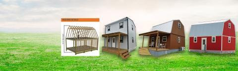 Our Keen's Building - 2 Story Barn is wind load rated up to 155 MPH. Custom Built On Site!