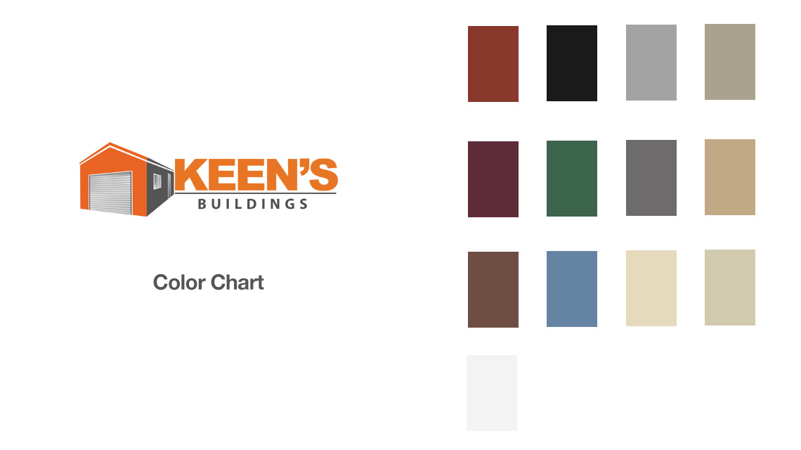 Storage Building Color Chart - Keen's Buildings