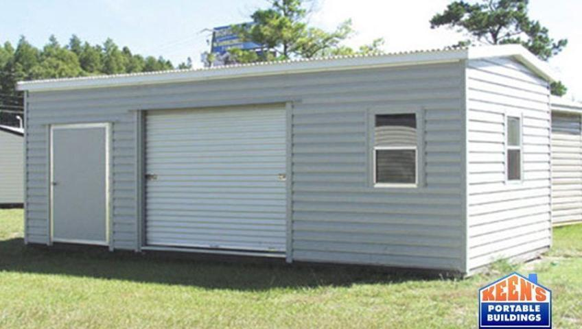 Keens-Buildings-Metal-Shed-12x24-lumberjack-rolldoor-building