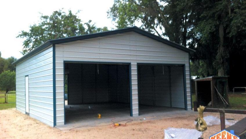 2 Door Steel Garage with Rollup Doors