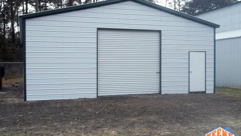 24X26 Enclosed Garage Roll up Door and walk in door