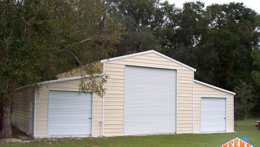 3 Port Steel Garage Front Elevation