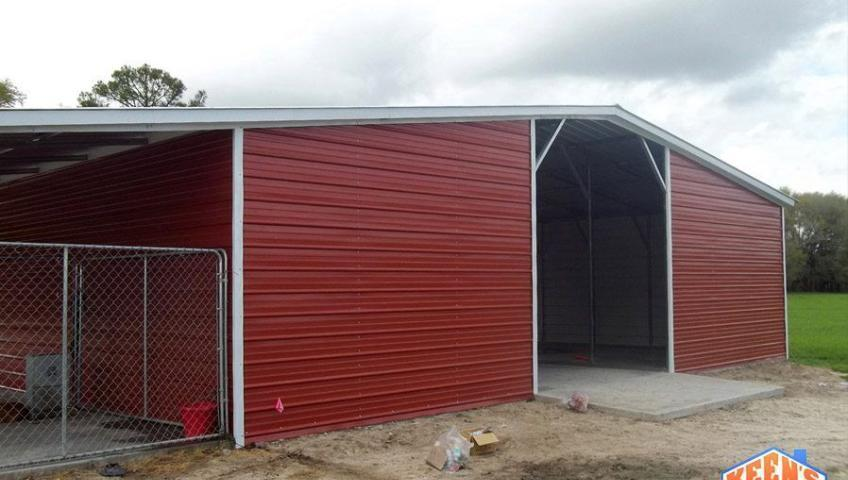 42 foot wide 12 wide lean to agricultural barn