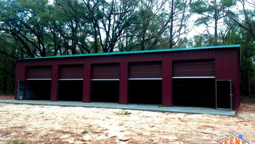 5 Bay Steel Garage with Rollup Doors View 2