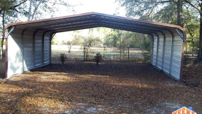 Carport Rounded Both Side Closed 22X21