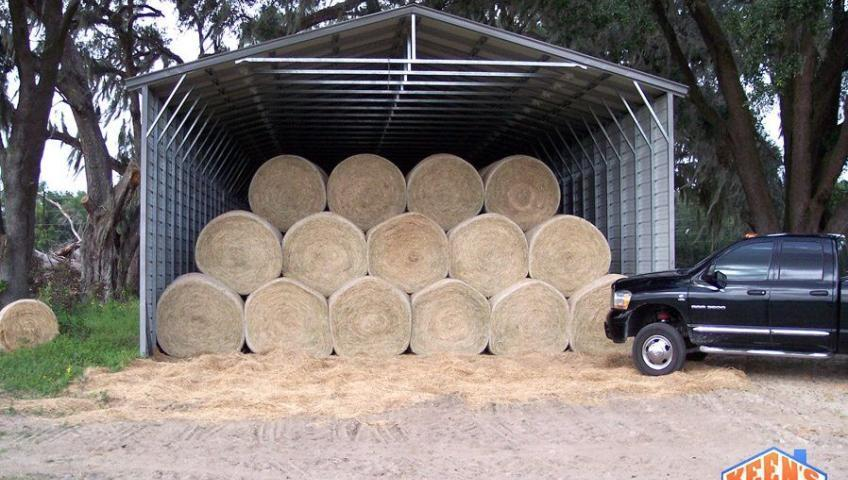 Hay Barn Front View