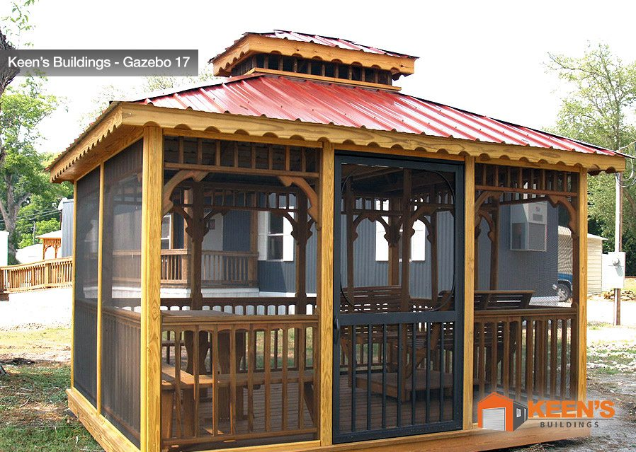 Keens-Building-Gazebo-17-10x12-Glider-House-with-Screen