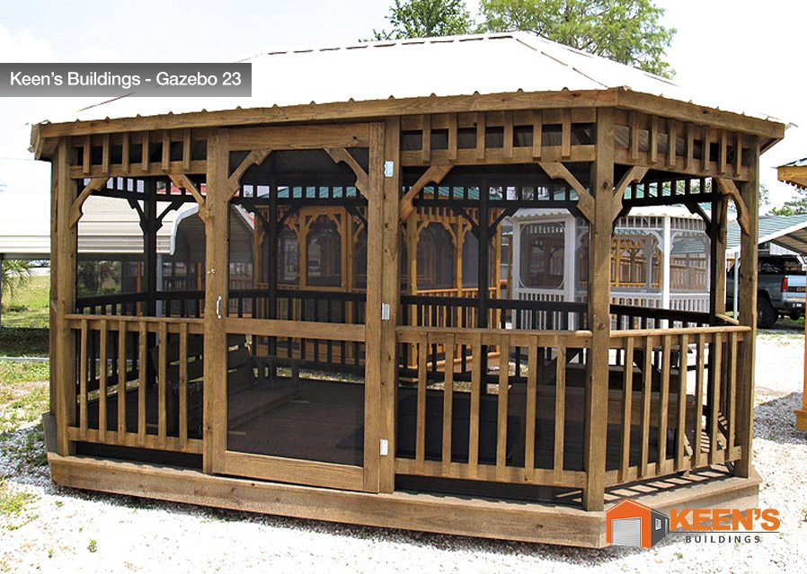 Keens-Building-Gazebo-23-12x18-with-Screen-and-Swing