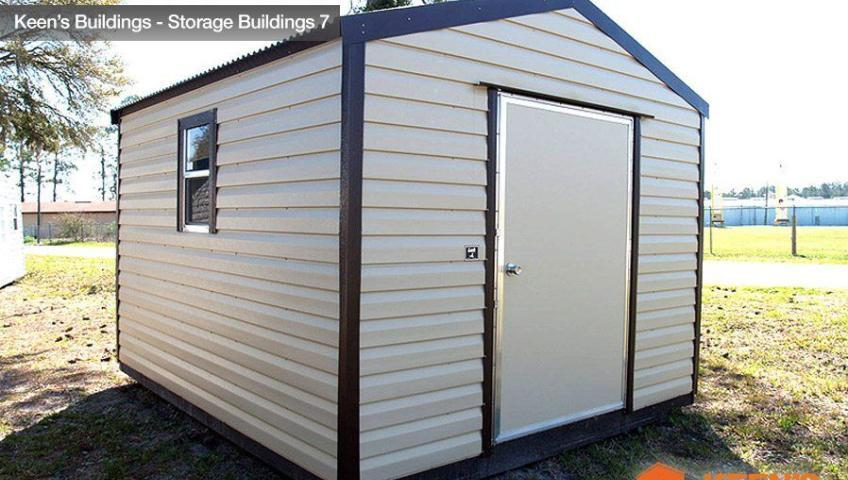 Keens Buildings 10x12 Storage Shed Side view 7