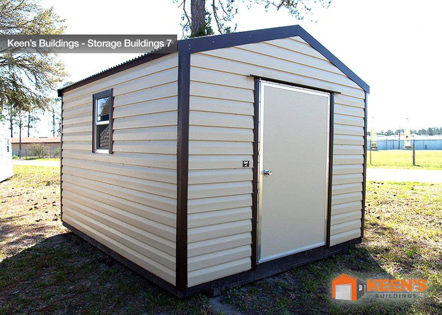 Storage buildings keen 39 s buildings for Side storage shed