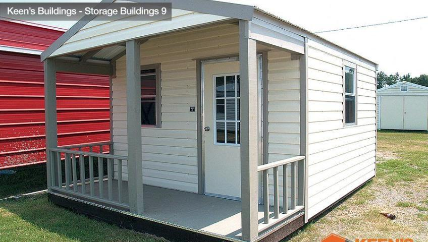 Keens Buildings 10x16 Outdoor shed with Porch 9