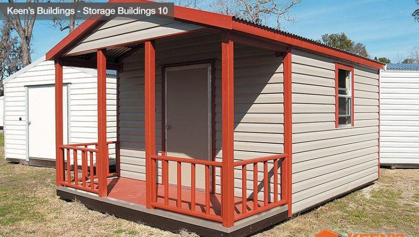 Keens Buildings 10x16 outdoor shed with porch 10