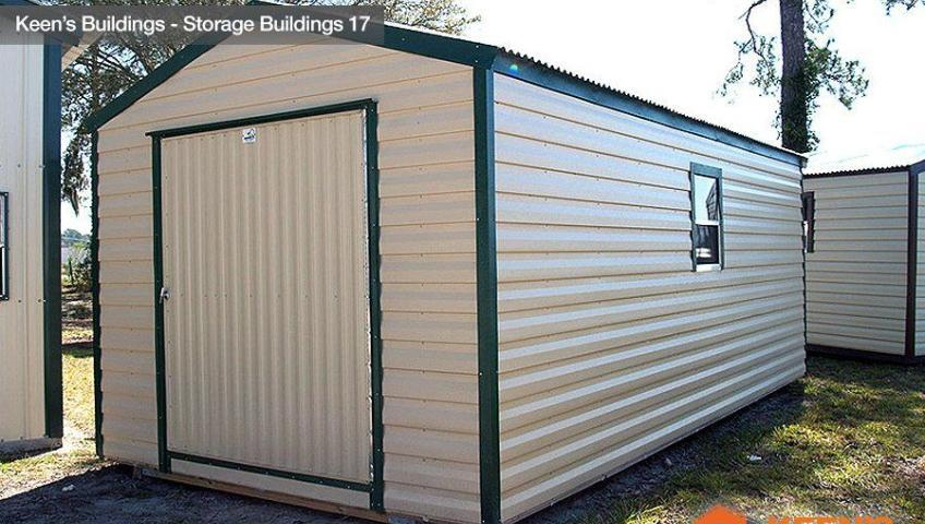 Keens Buildings 10x20 Storage Shed side view 17