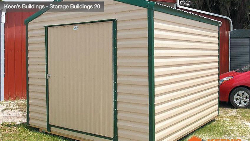 Keens Buildings 12x12 Storage Shed 1 rollup door 20