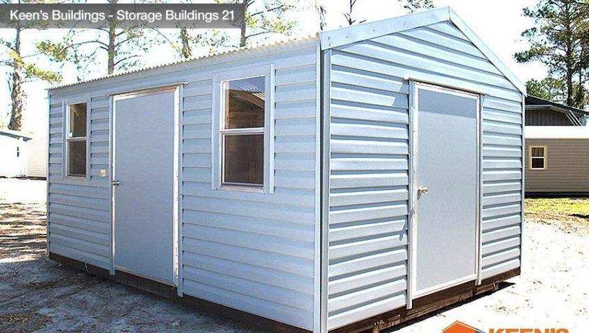 Keens Buildings 12x16 Storage Shed Side view 21
