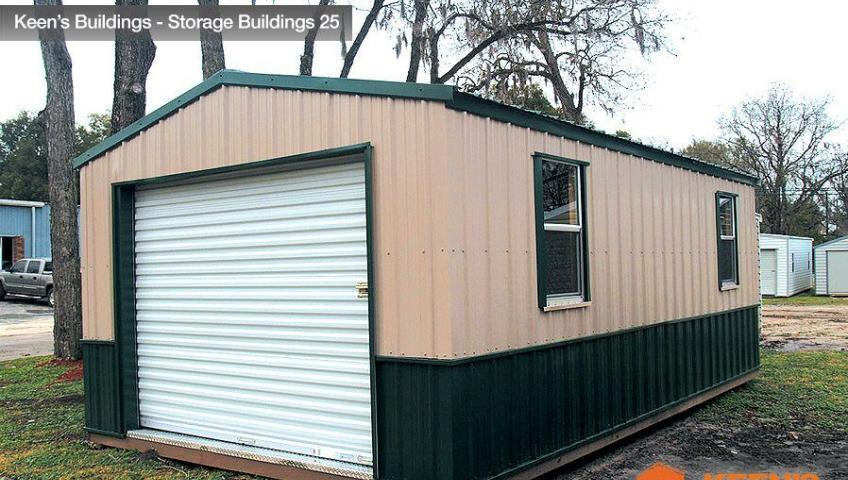 Keens Buildings 12x20 Shed side view 25