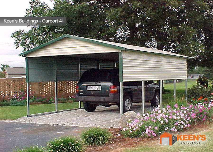 Steel carports keen 39 s buildings 1 car carport