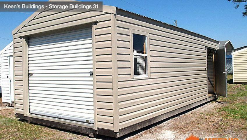 Keens Buildings 12x24 Storage Building Shed With One Roll