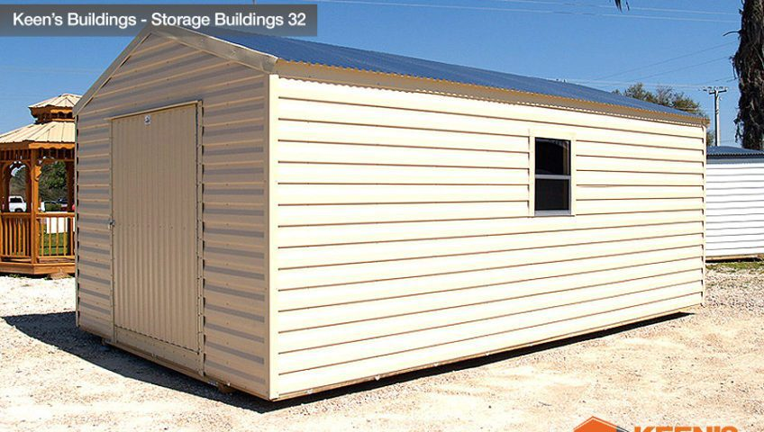 Keens Buildings 12x24 Storage Building side view 32