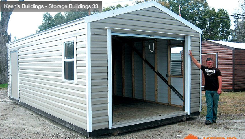 Keens Buildings 12x24 Storage Building with Josh with Roll up Door 33
