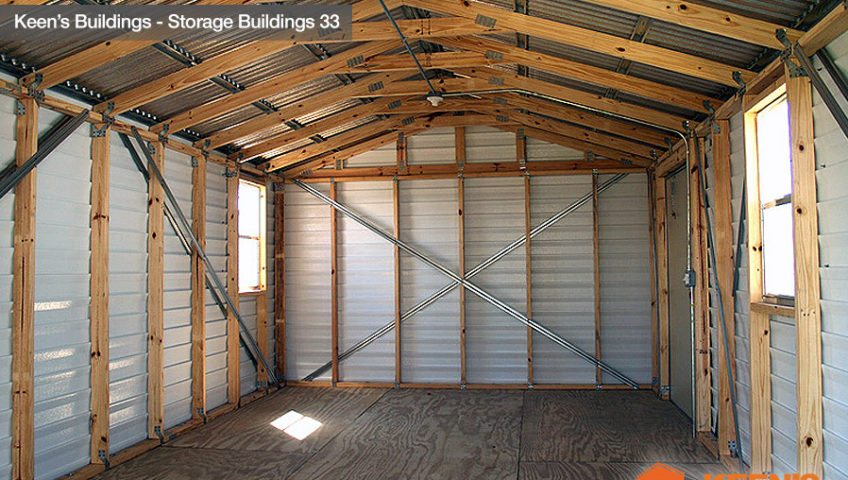 Keens Buildings 12x24 Storage Building With Josh With Roll