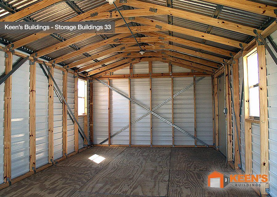 8x10 Metal Shed >> Storage Buildings - Keen's Buildings