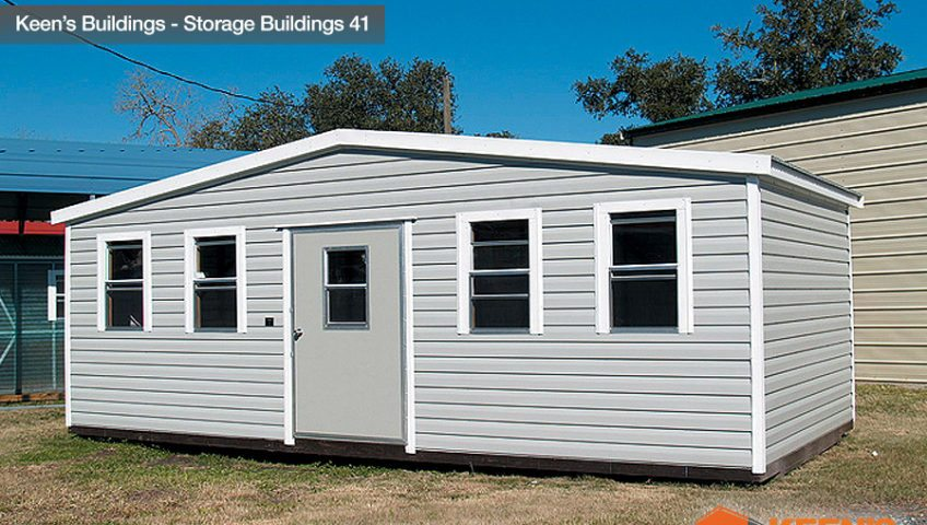 Keens Buildings 12x30 Storage Building with one walk in door 41