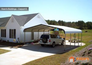 Keens Buildings 18x21 Double Carport 6