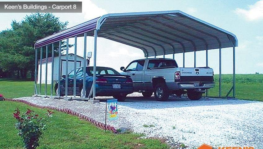 Keens Buildings 18x31 Carport 2 8