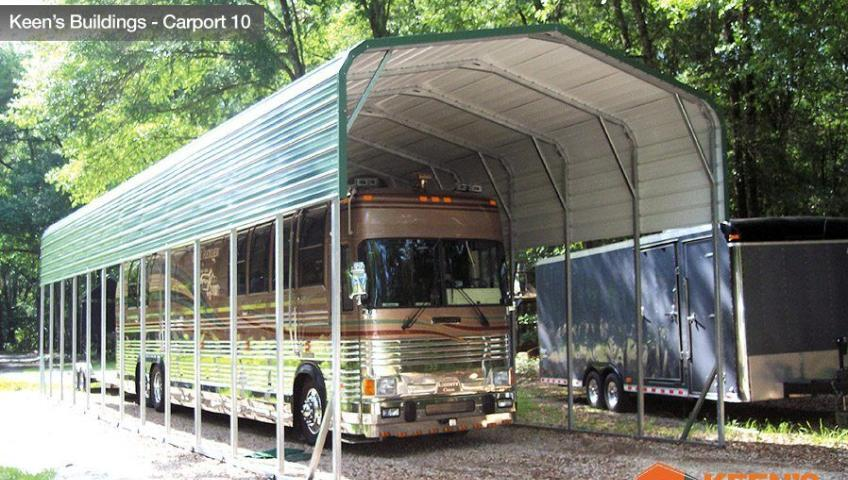 Keens Buildings 18x41 Motorhome Carport 10