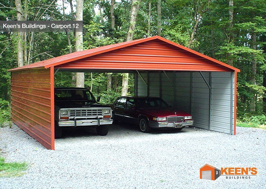 Steel carports keen 39 s buildings for Carports with sides