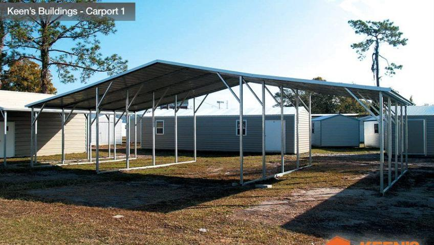 Keens Buildings 42x21 carport 1