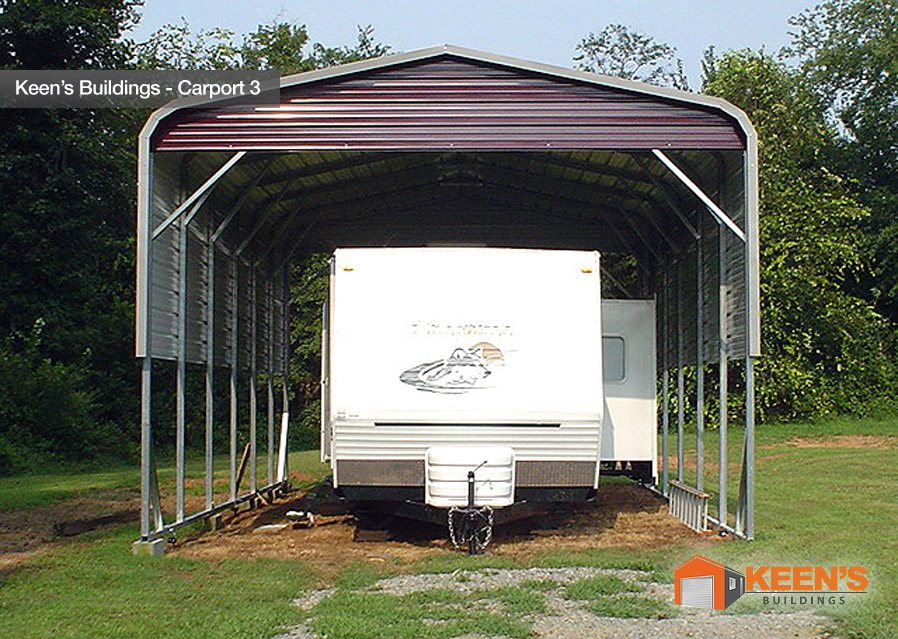5 Car Metal Carport : Steel carports keen s buildings