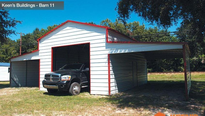 Keens-Buildings-Barn-with-roll-up-garage-door-11