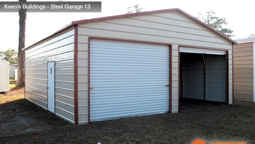 Keens Buildings Steel Garage 13 24x26