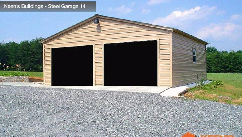 Keens Buildings Steel Garage 14 26x31 Boxed Eave Garage Model