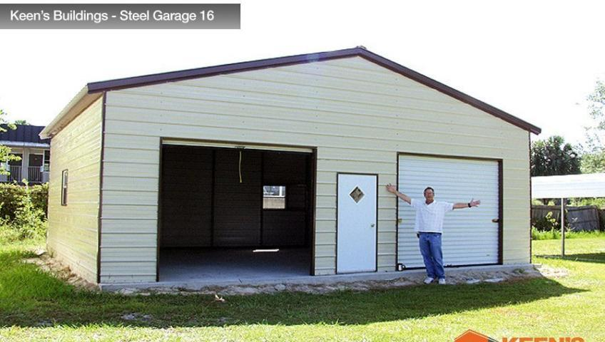 Keens Buildings Steel Garage 16 30x26
