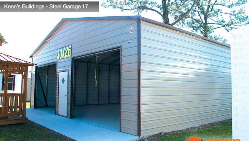 Keens Buildings Steel Garage 17 30x26