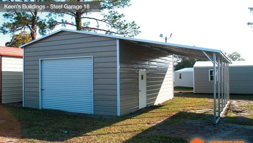 Keens Buildings Steel Garage 18 30x26