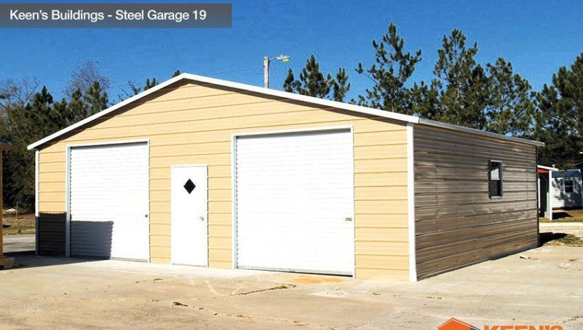 Keens Buildings Steel Garage 19 30x26