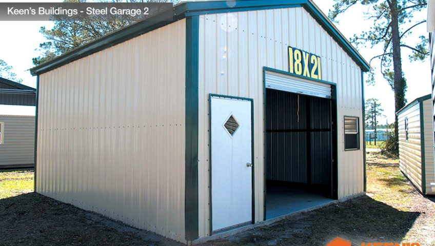 Keens Buildings Steel Garage 2 18x21