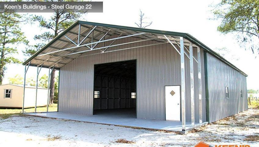 Keens Buildings Steel Garage 22 40x61