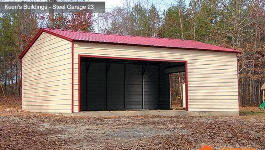Keens Buildings Steel Garage 23