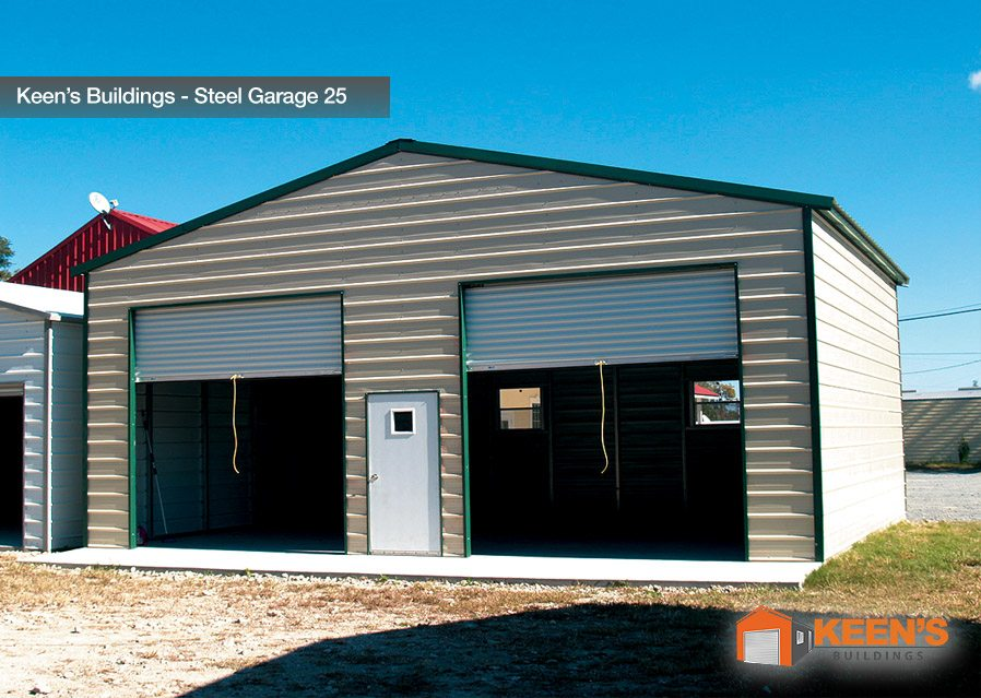 Keens Buildings Steel Garage 25 Keen S Buildings
