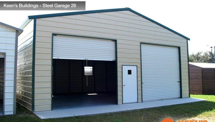 Keens Buildings Steel Garage 26