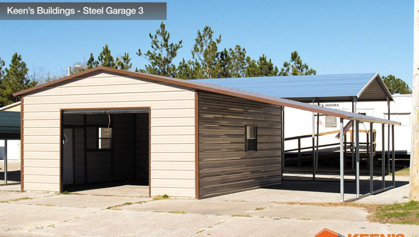 Keens Buildings Steel Garage 3 18x26