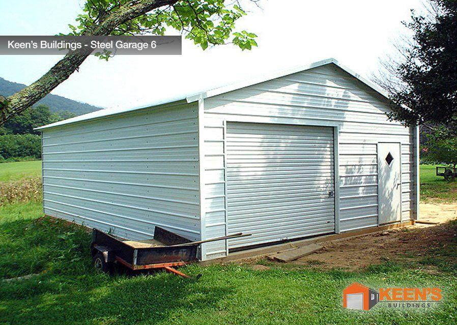 Keens Buildings Steel Garage 6 20x21 Boxed Eave Garage Model 1
