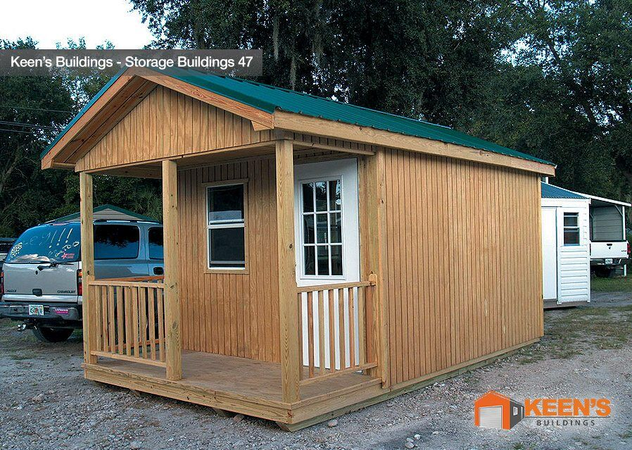 Keens Buildings Storage Shed Custom Porch Model 47