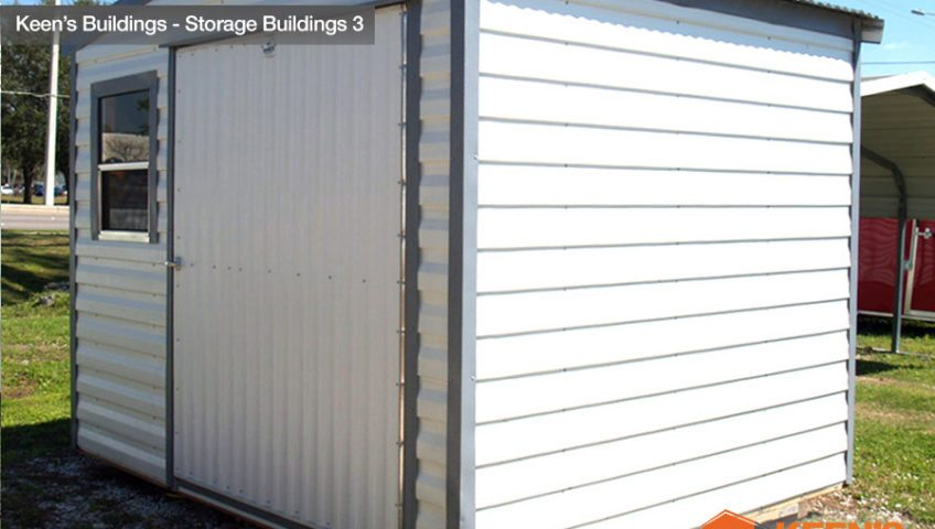 Keens Storage Buildings 8x10 Storage shed side view 3