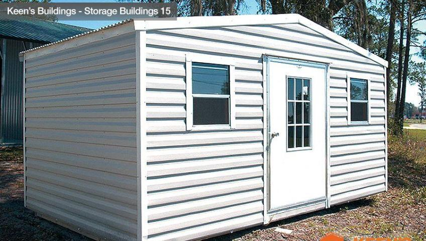 Keens buildings 10x16 Storage Shed front view 15